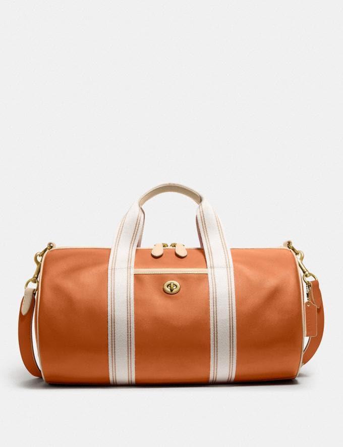 Coach Duffle Brass/Hazelnut Ivory New Men's New Arrivals Bags