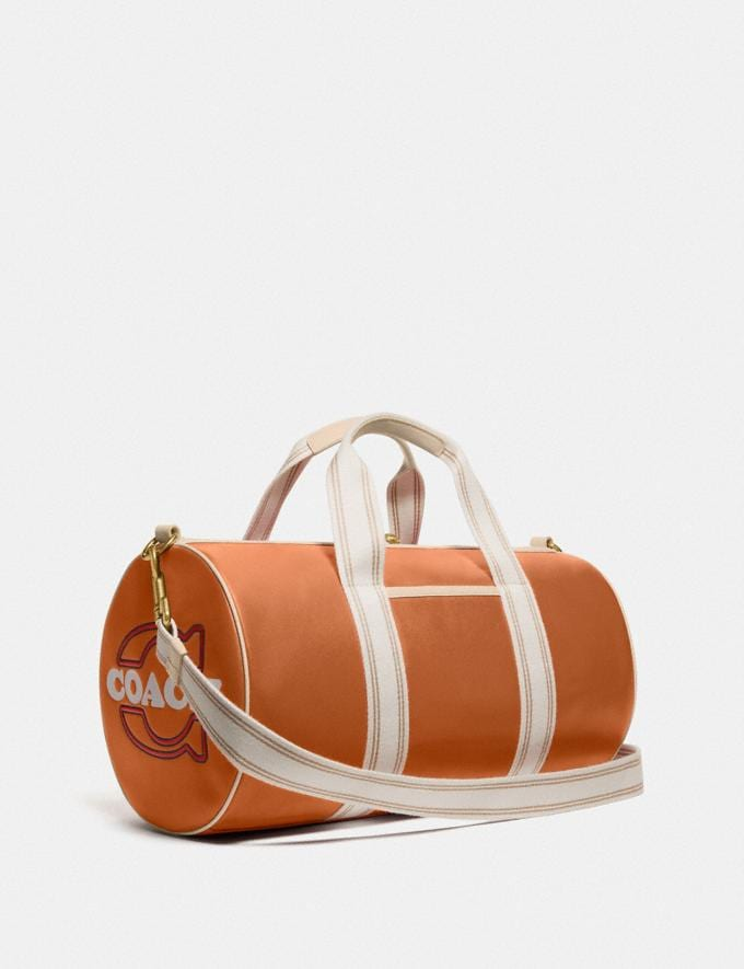 Coach Duffle Brass/Hazelnut Ivory New Men's New Arrivals Bags Alternate View 1