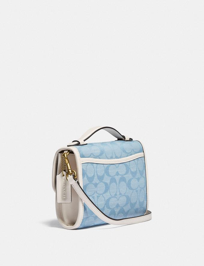 Coach Kip Turnlock Crossbody in Signature Chambray B4/Light Washed Denim Chalk null Alternate View 1