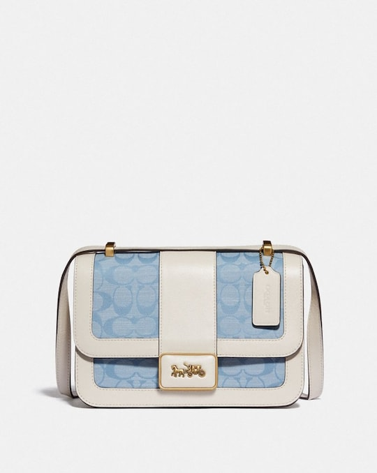 ALIE SHOULDER BAG IN SIGNATURE CHAMBRAY