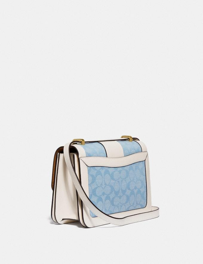 Coach Alie Shoulder Bag in Signature Chambray B4/Light Washed Denim Chalk null Alternate View 1