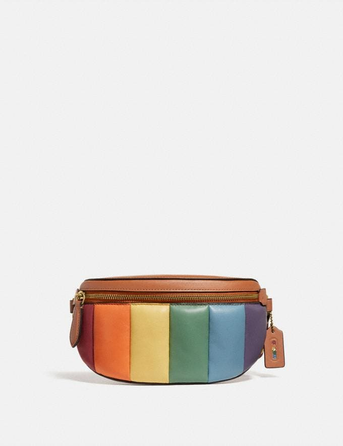 Coach Bethany Belt Bag With Rainbow Quilting Brass/Natural Multi DEFAULT_CATEGORY