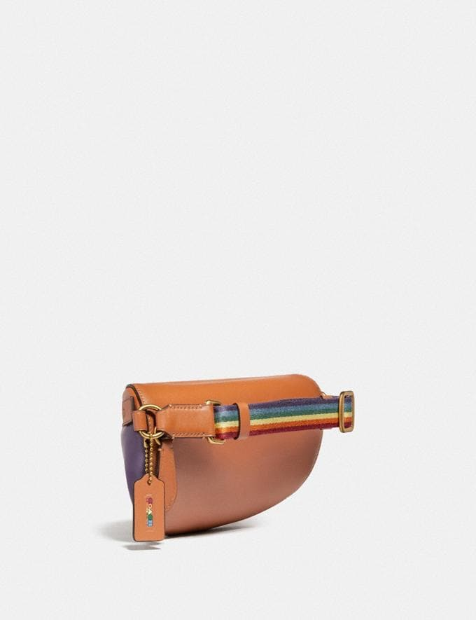 Coach Bethany Belt Bag With Rainbow Quilting Brass/Natural Multi DEFAULT_CATEGORY Alternate View 1