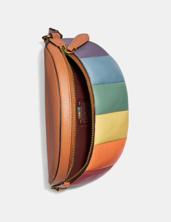 Coach Bethany Belt Bag With Rainbow Quilting Brass/Natural Multi DEFAULT_CATEGORY Alternate View 3