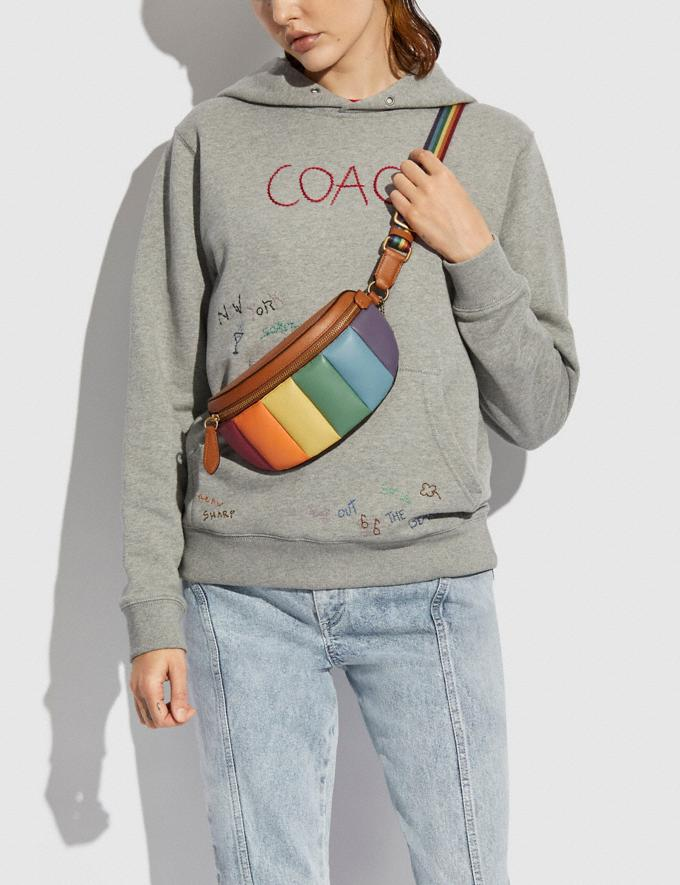 Coach Bethany Belt Bag With Rainbow Quilting Brass/Natural Multi DEFAULT_CATEGORY Alternate View 4