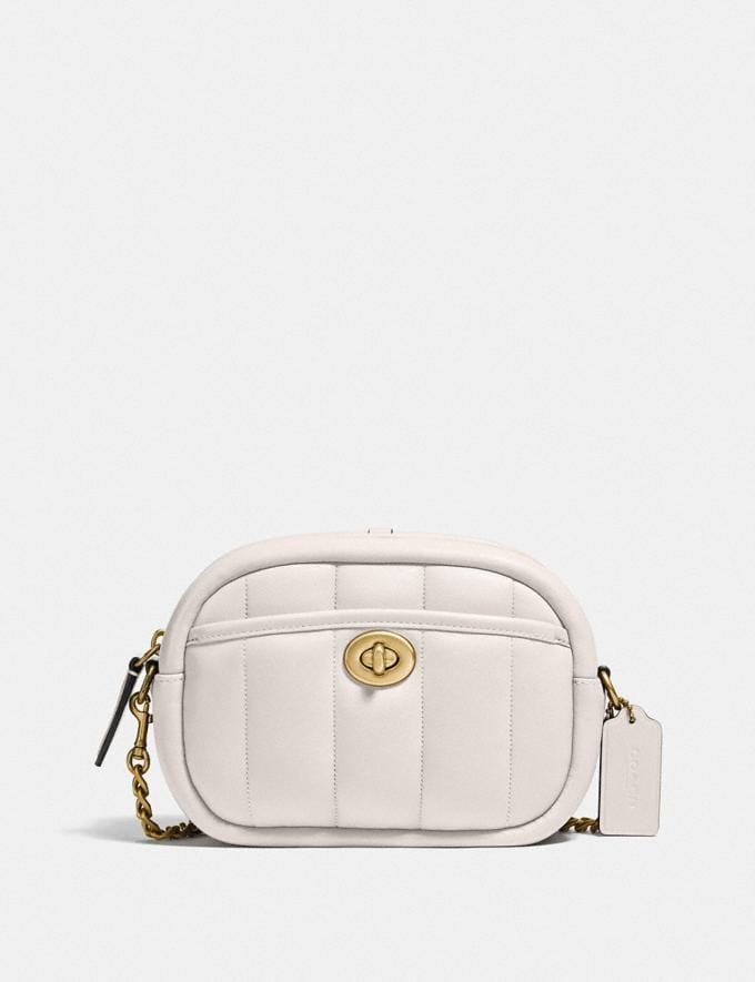 Coach Small Camera Bag With Quilting B4/Chalk New Women's New Arrivals Bags