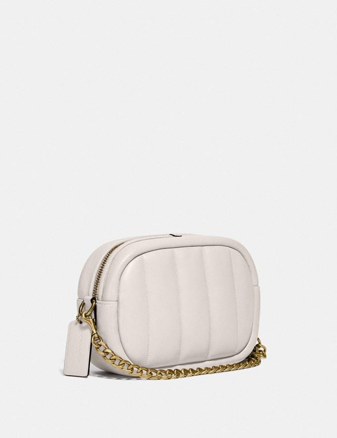 Coach Small Camera Bag With Quilting B4/Chalk New Women's New Arrivals Bags Alternate View 1