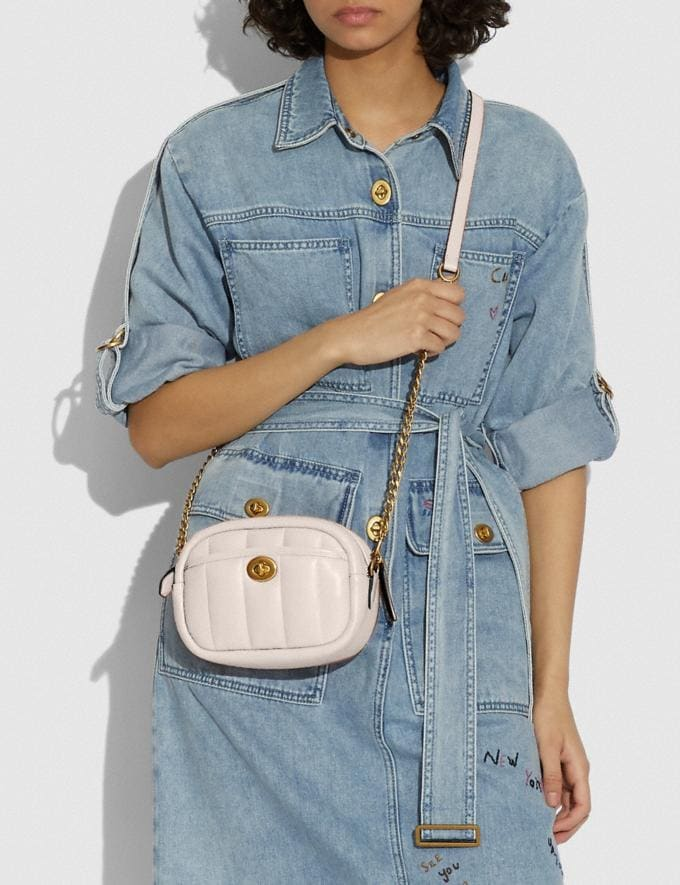 Coach Small Camera Bag With Quilting B4/Chalk New Women's New Arrivals Bags Alternate View 3