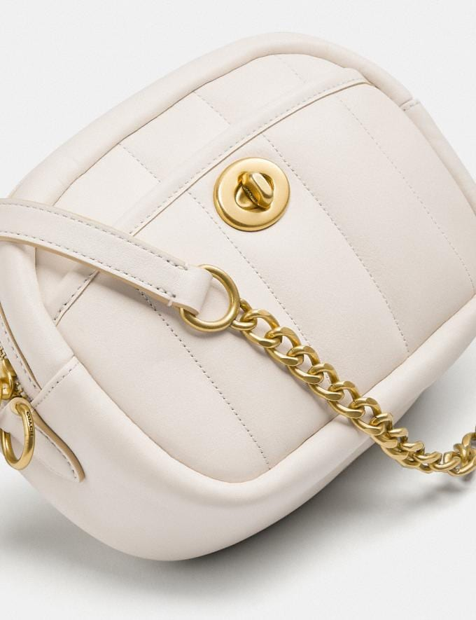 Coach Small Camera Bag With Quilting B4/Chalk New Women's New Arrivals Bags Alternate View 4