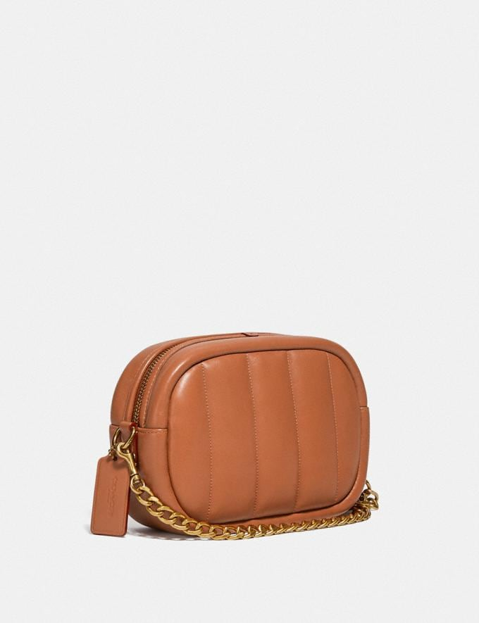 Coach Small Camera Bag With Quilting B4/Canyon New Women's New Arrivals Bags Alternate View 1