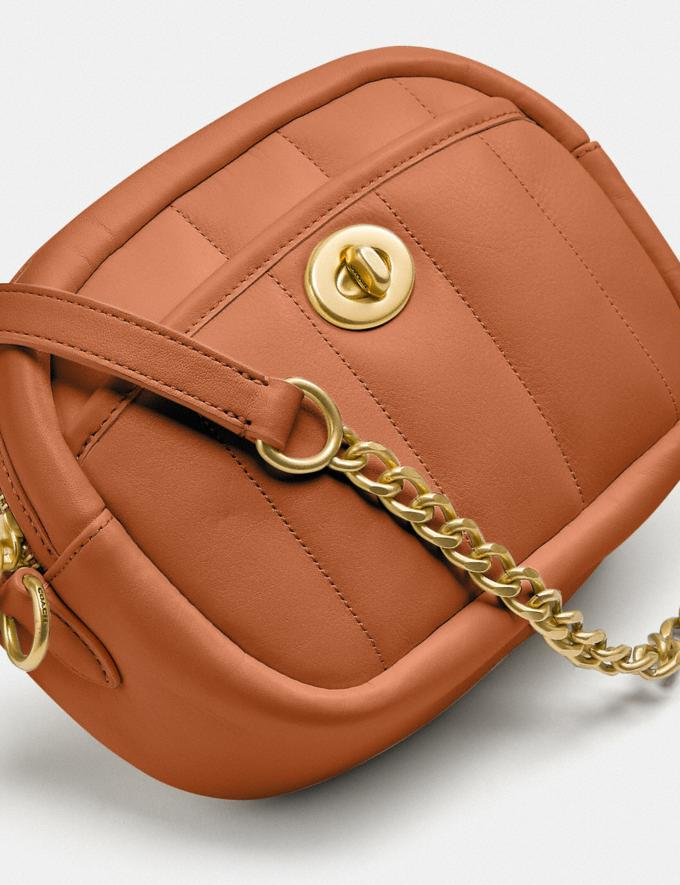 Coach Small Camera Bag With Quilting B4/Canyon New Women's New Arrivals Bags Alternate View 4