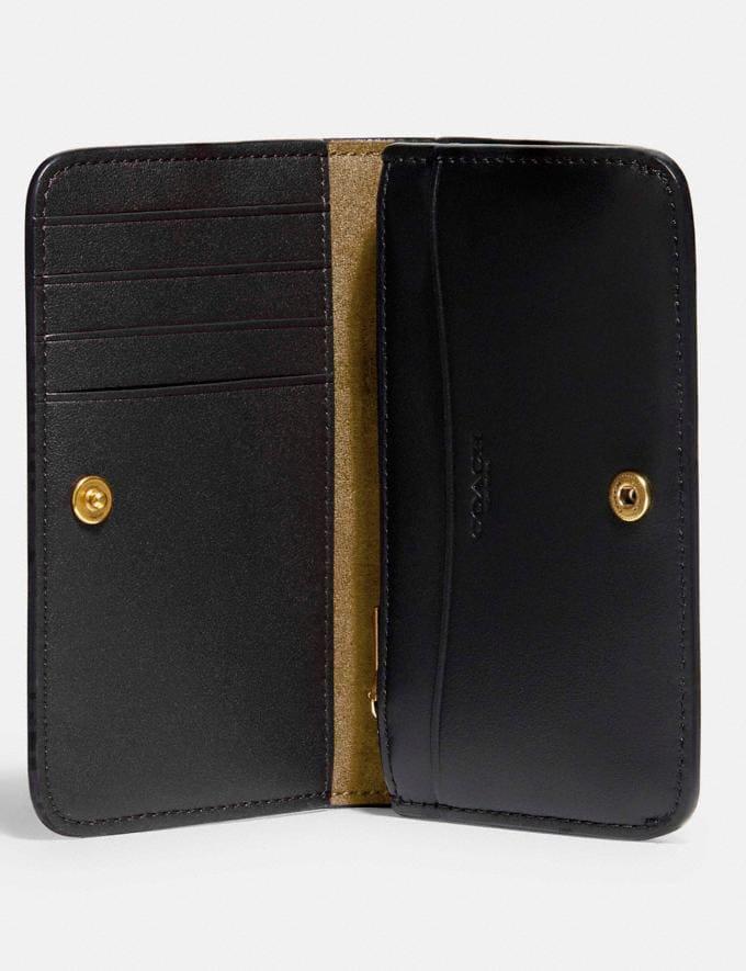 Coach Slim Card Case Brass/Black 8.1 newness Alternate View 1