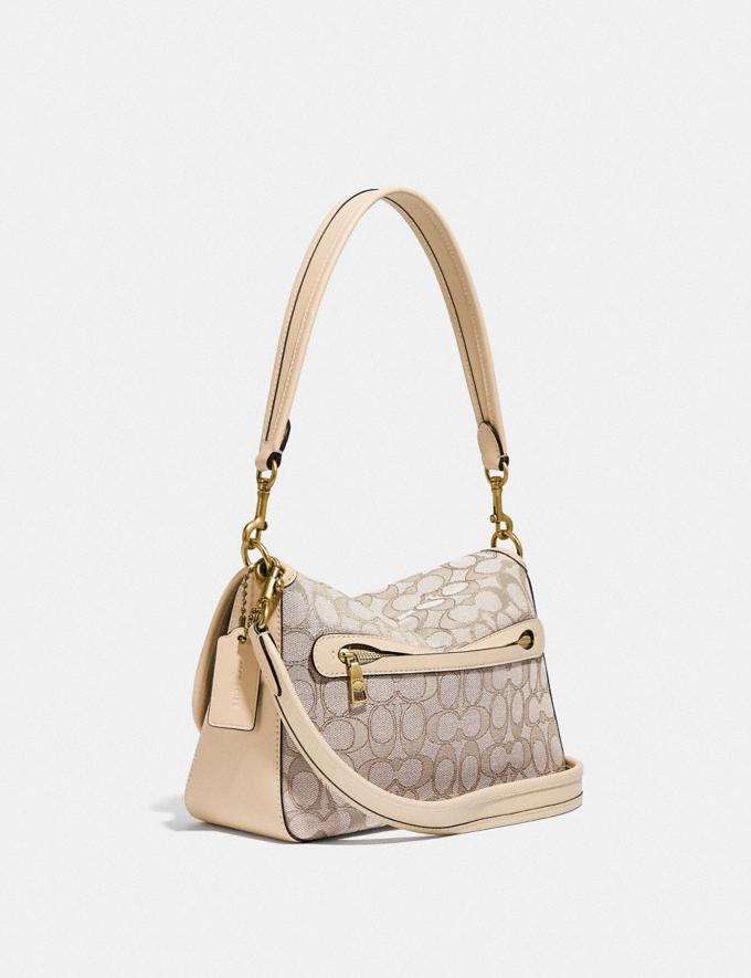 Coach Soft Tabby Shoulder Bag in Signature Jacquard B4/Stone Ivory New Women's New Arrivals Bags Alternate View 1