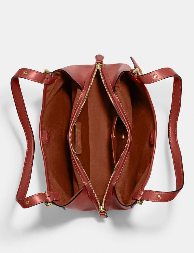 Coach Lori Shoulder Bag in Signature Canvas Brass/Tan Rust 8.1 newness Alternate View 3