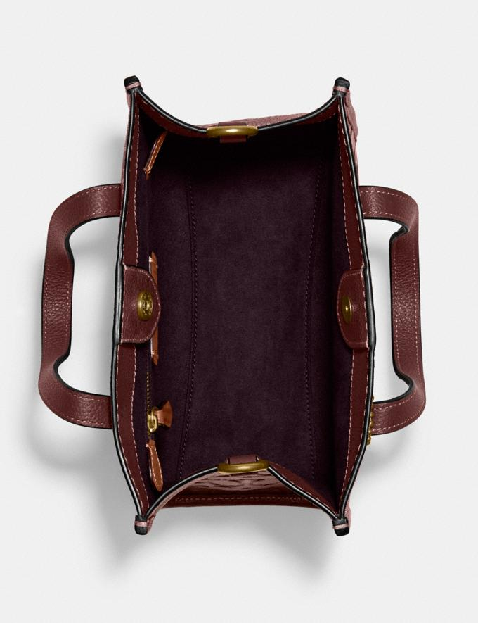 Coach Field Tote 22 in Signature Leather B4/Wine Translations 10.1 retail newness Alternate View 3