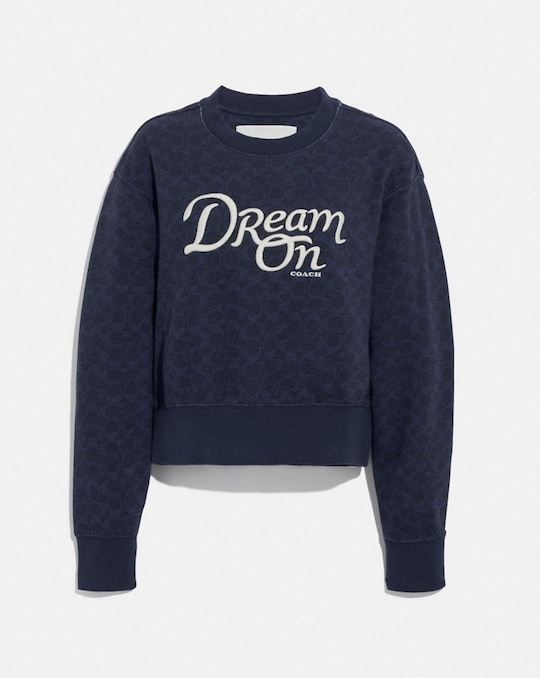 DREAM ON CREWNECK IN ORGANIC COTTON