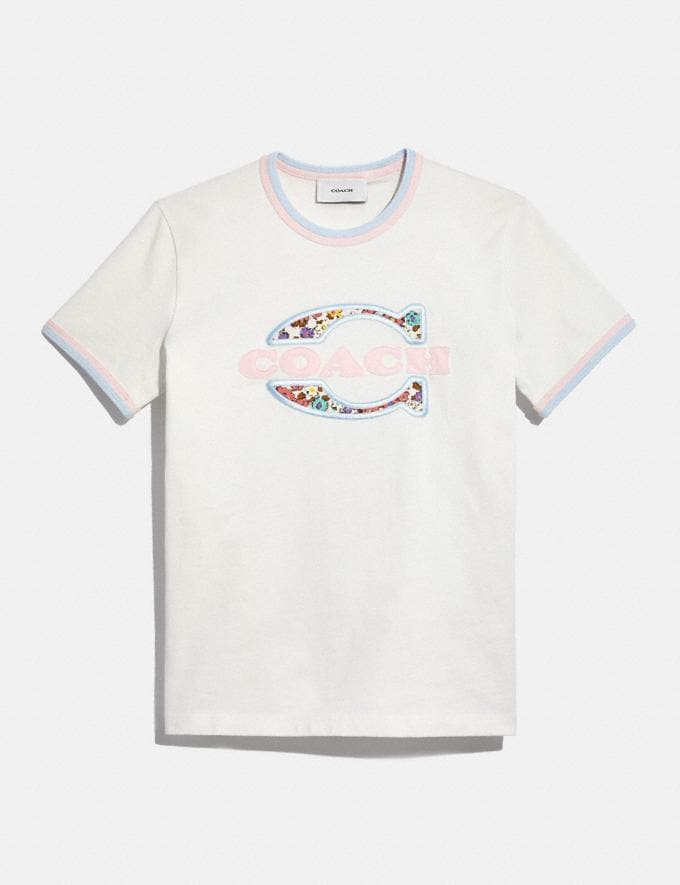 Coach Athletic T-Shirt in Organic Cotton White null