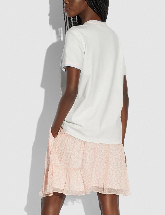 Coach Athletic T-Shirt in Organic Cotton White null Alternate View 2