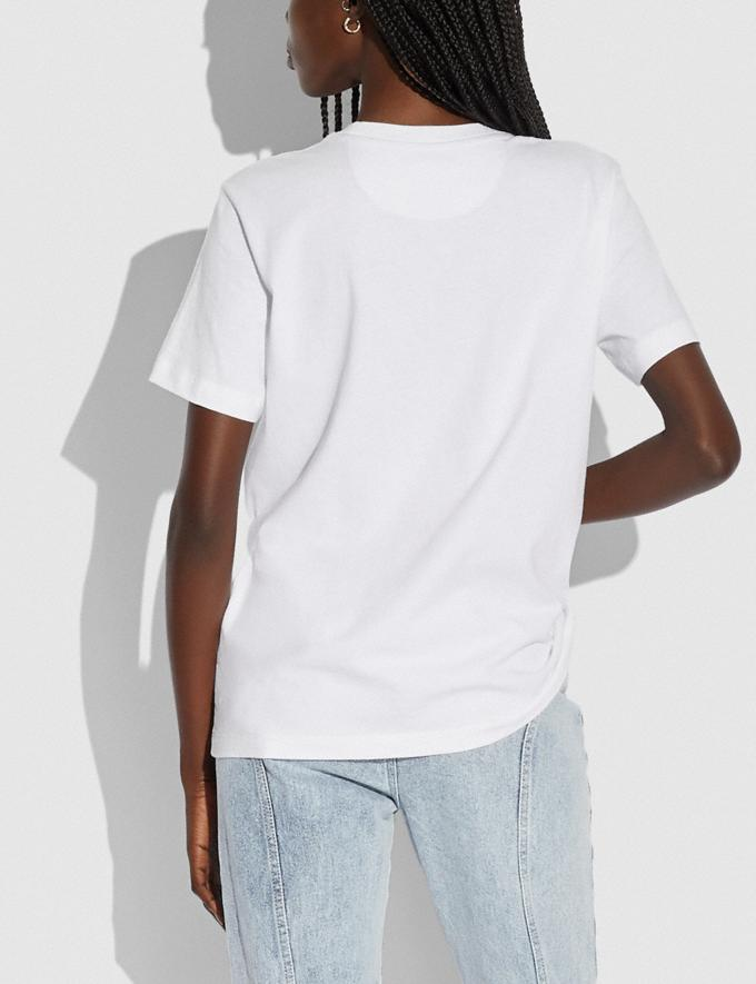 Coach Patchwork Rexy T-Shirt in Organic Cotton Optic White Translations 5.1 Retail Alternate View 2