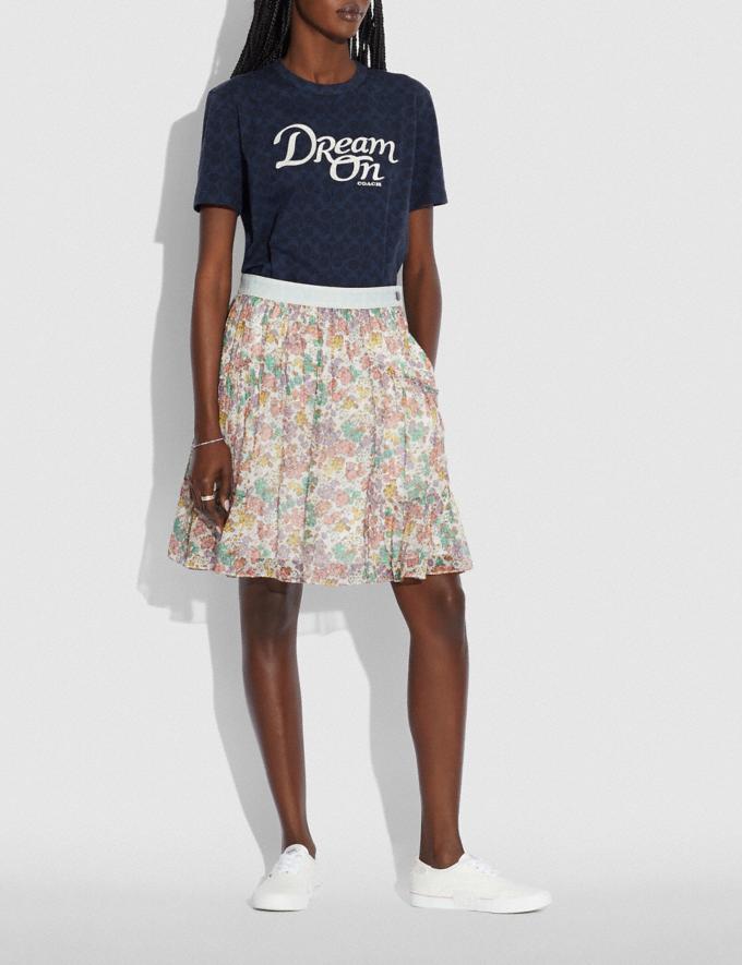 Coach Dream T-Shirt in Organic Cotton Navy null Alternate View 1