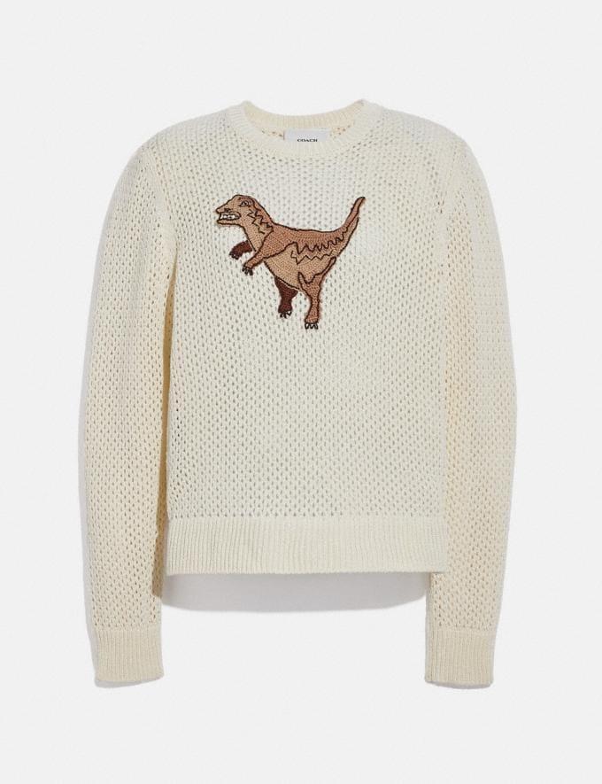 Coach Crochet Sweater Ivory null