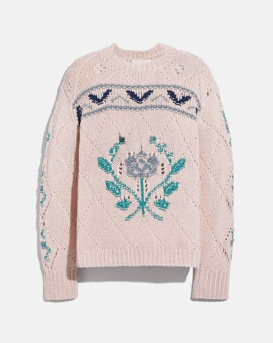 POINTELLE CREWNECK SWEATER