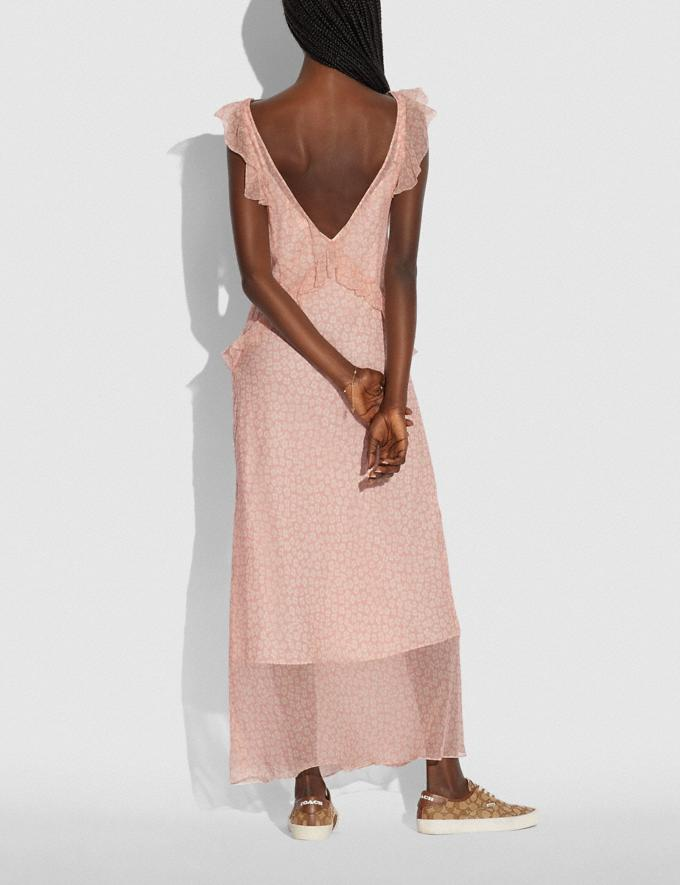 Coach Open Back Dress Pink/White Translations 5.1 Retail Alternate View 2
