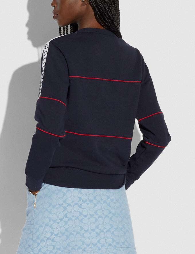 Coach Athletic Sweatshirt in Organic Cotton Navy 6.1-Otheroutlet Alternate View 2