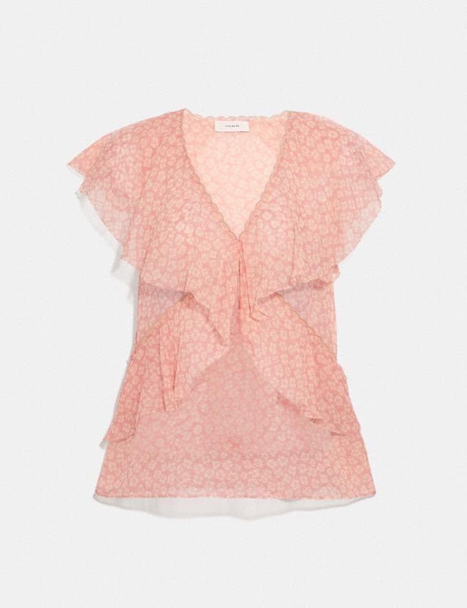 Coach Party Top Pink/White null