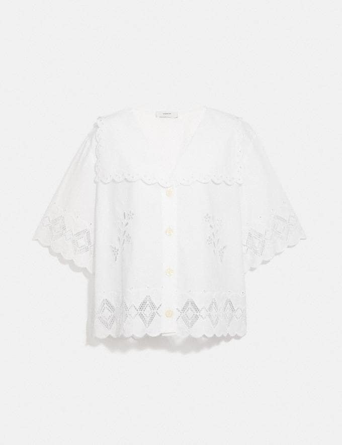 Coach Broderie Anglaise Shirt Off White null
