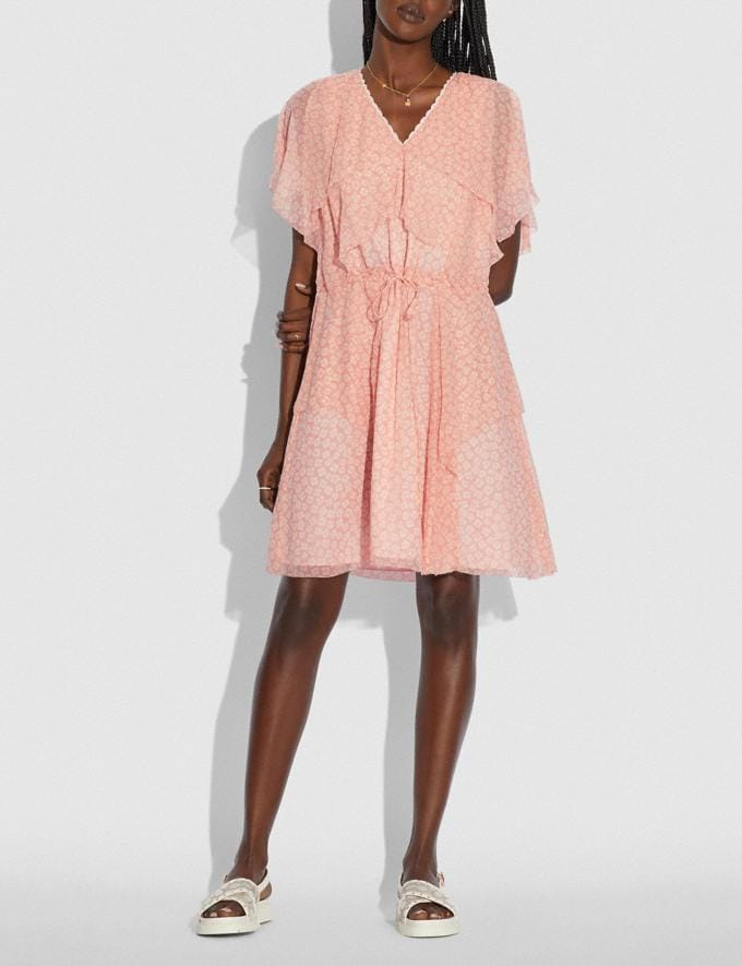 Coach Mini Viscose Party Dress Pink/White null Alternate View 1