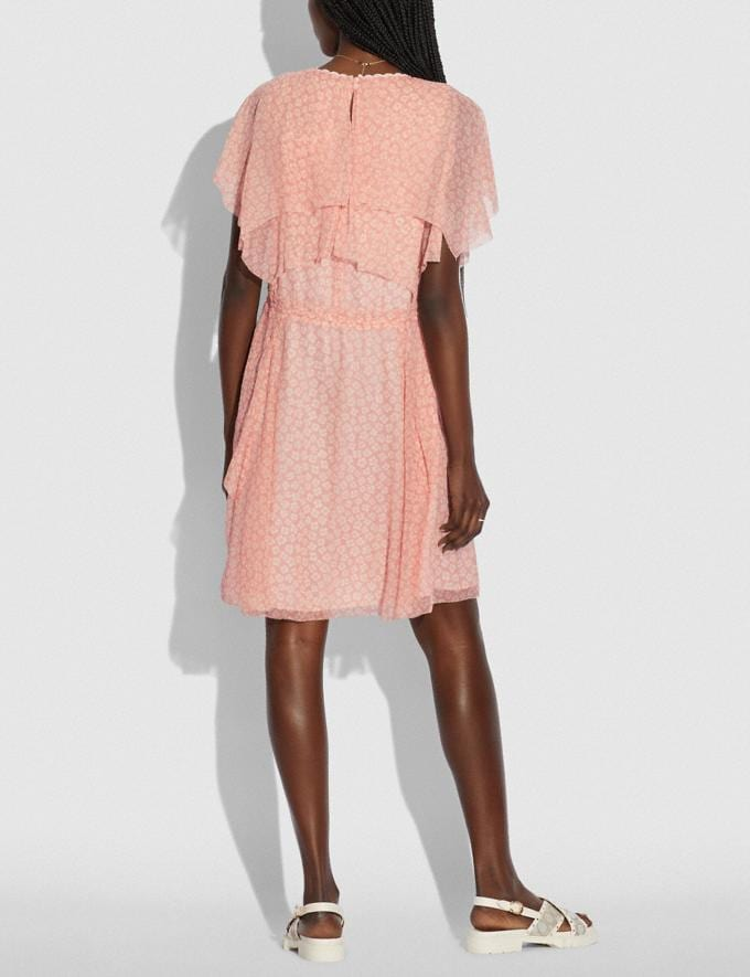 Coach Mini Viscose Party Dress Pink/White null Alternate View 2