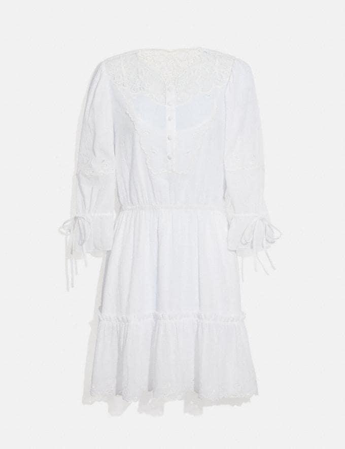 Coach Mini Tiered Dress White null