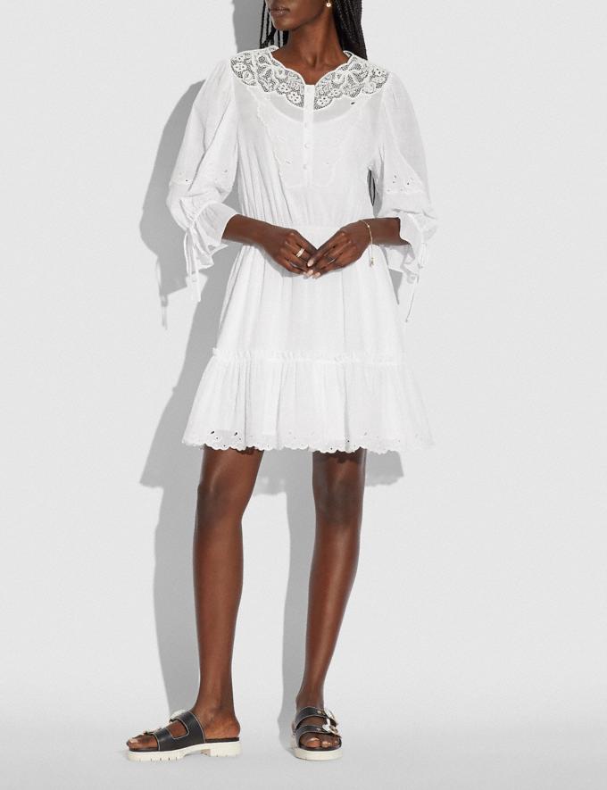 Coach Mini Tiered Dress White null Alternate View 1