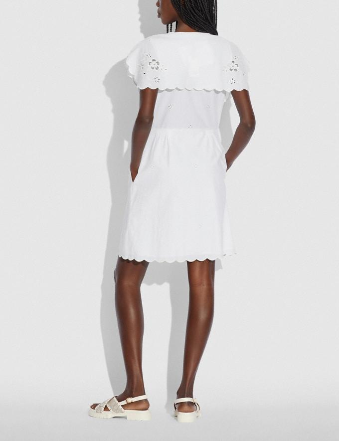 Coach Short Broderie Anglaise Dress Off White null Alternate View 2