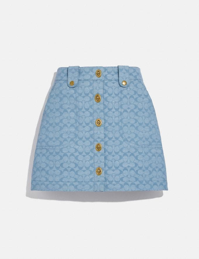Coach Chambray Mini Skirt Sig C Chambray null