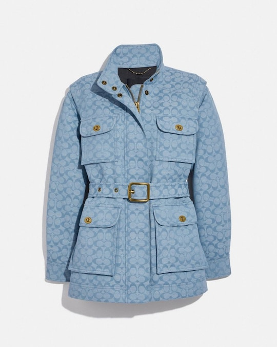 GIACCA FIELD IN CHAMBRAY CON SIGNATURE