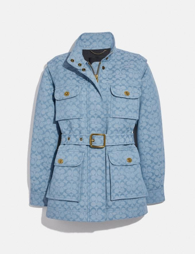 Coach Veste Field En Chambray Exclusif Chambray Sig C Translations 5.1 Retail