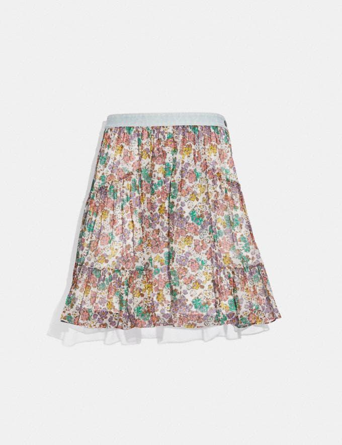 Coach Denim Waistband Mini Skirt Purple/Green Translations 5.1 Retail