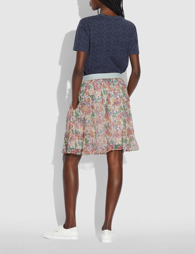 Coach Denim Waistband Mini Skirt Purple/Green Translations 5.1 Retail Alternate View 2