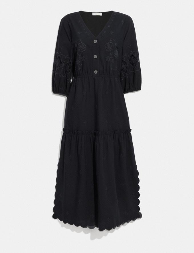 Coach Broderie Anglaise Shirt Dress Navy null