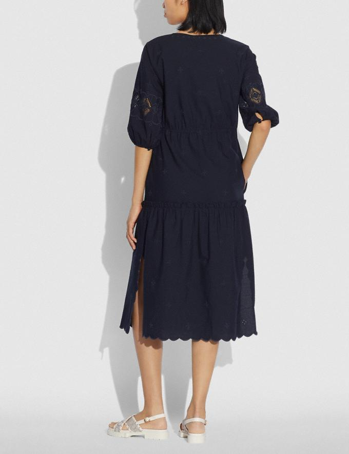 Coach Broderie Anglaise Shirt Dress Navy null Alternate View 2