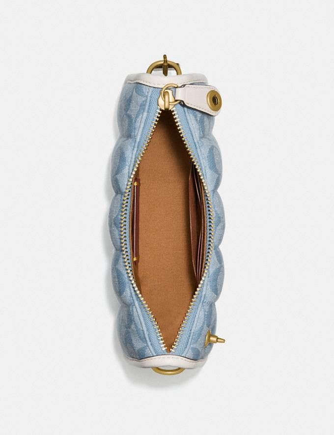Coach Swinger 20 in Signature Chambray With Quilting Brass/Light Washed Denim Chalk null Alternate View 3