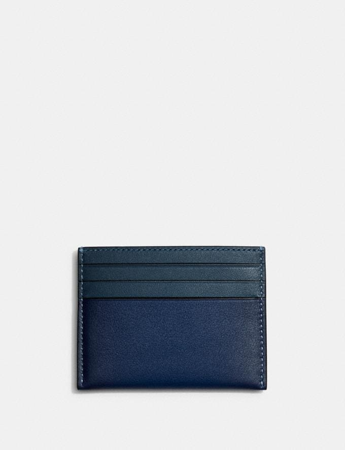 Coach Card Case in Colorblock Deep Blue/Prussian DEFAULT_CATEGORY Alternate View 1