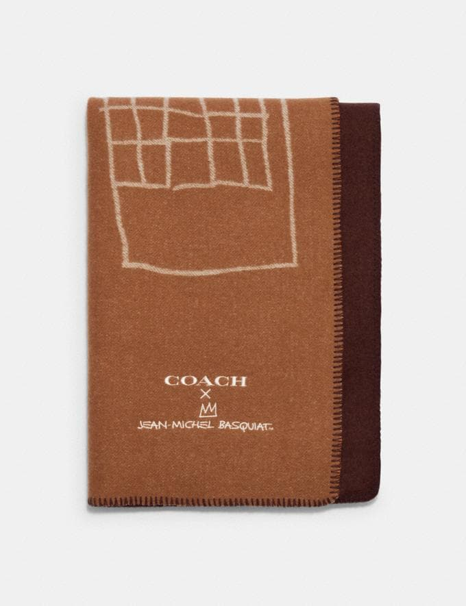 Coach Coach X Jean-Michel Basquiat Oversized Scarf Camel. Translations 9.1 Basquiat Outlet Newness