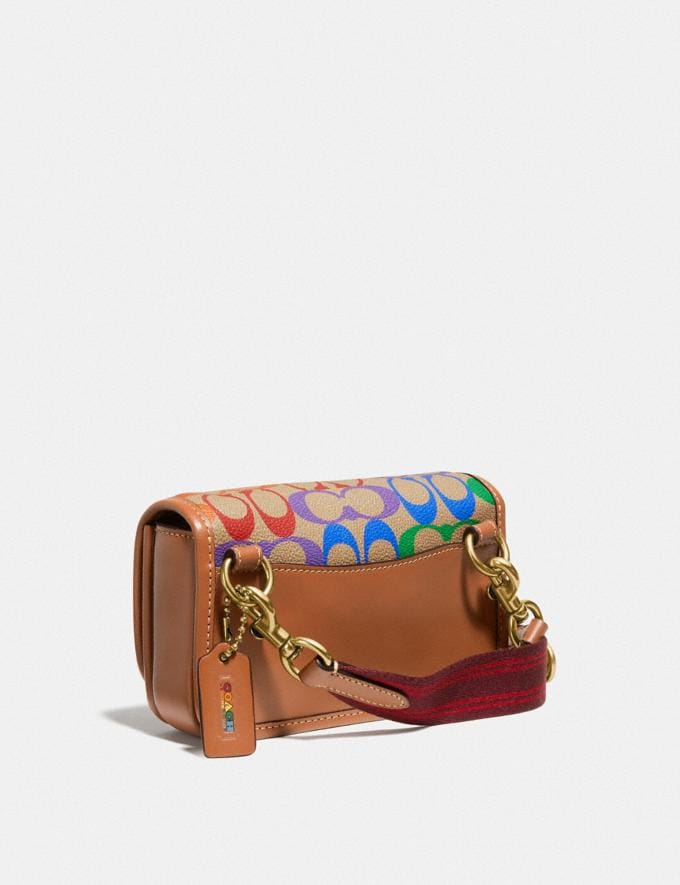 Coach Charter Phone Crossbody in Rainbow Signature Canvas Saddle Multi New Featured Coach Pride Collection Alternate View 1