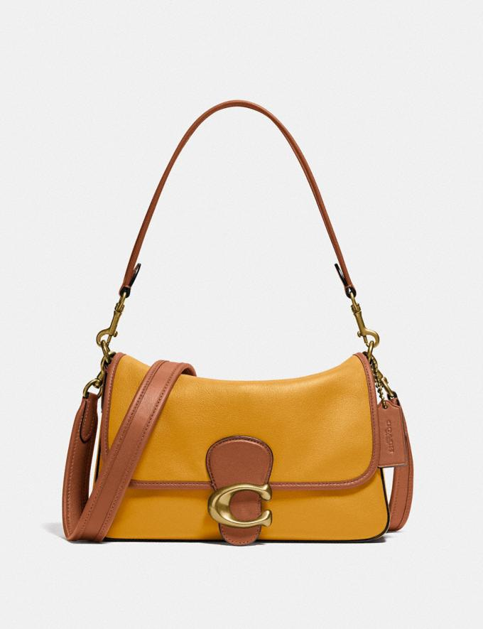 Coach Soft Tabby Shoulder Bag in Colorblock B4/Buttercup Multi