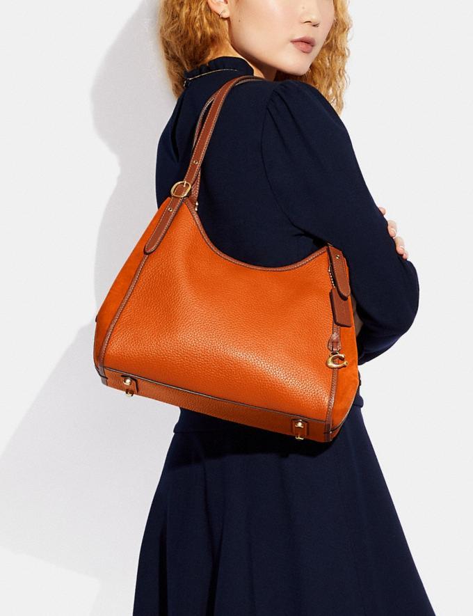 Coach Lori Shoulder Bag Brass/Canyon Multi New Women's New Arrivals Bags Alternate View 4
