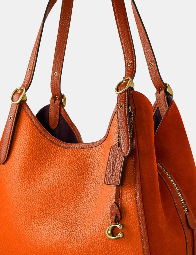 Coach Lori Shoulder Bag Brass/Canyon Multi New Women's New Arrivals Bags Alternate View 6