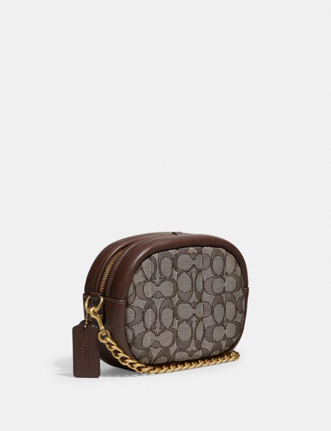 Coach Small Camera Bag in Signature Jacquard With Quilting B4/Oak Maple New Women's New Arrivals Bags Alternate View 1